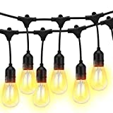 Guirnalda luminosa exterior LED 15 m/49 ft String Light, 15 + 1 pieza 2 W = 20 W E27 Bombilla...