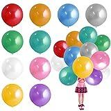 CJMM 10 Globos Redondos de Látex Coloridos de 90 cm, Látex Balloons, Globo de Helio de 36...