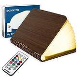 Lampara Libro Plegable de Madera con Mando, 12 Colores y Temporizador – BONNYCO   Lamparas...
