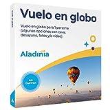 ALADINIA Vuelo en Globo. Pack Aventura con más de 40 Zonas de Vuelo a Elegir. Caja Regalo...