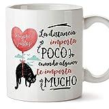 MUGFFINS Taza San Valentín (Te quiero) - Distancia importa poco - Regalos Originales y...