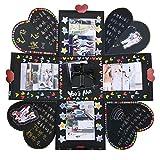 VEESUN Caja de Regalo Creative Explosion Box, DIY Álbum de Fotos Scrapbook 15x15x15cm Caja...