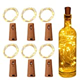 Luz de Botella, Yizhet Luz Botella Corcho, 6 Piezas LED Luces Botellas de Vino 2m 20 LED...