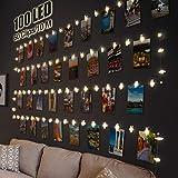 Litogo Clip Cadena de Luces LED, 10m 100 Led Colgar Fotos de Luces 60 Pinzas Para Fotos...