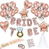 Jiahuade Bride to Be,Confetti Globos,Globos de Oro Rosa,Despedida de Soltera...