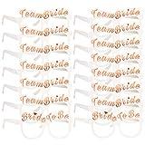 Konsait Despedida de Soltera Accesorios Decoración, 2 Bride y 14 Team Bride Gafas photocall...