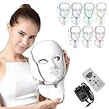 NBD® 7 Color LED máscara Light Therapy LED máscara Photon con cuello, Beaut Facial el...