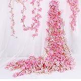 3 x 180 cm,Flor de Cerezo Artificial, para decoración ratán Colgante, Guirnalda,decoración...