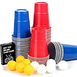 Upchase (100+10+Juego de Cartas Copas de Plastico, Beer Pong Kit, para Fiestas Vaso de...
