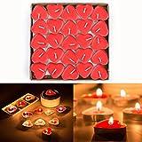 Love Heart Shape Tealights Velas de amor a granel flotante sin humo perfumadas velas...