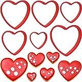 Olywee - Juego de 6 cortadores de galletas para el día de San Valentín, para bodas,...