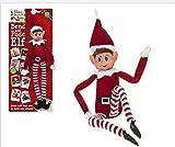 Elves Behavin Badly Elfo Flexible Flexible de 12 'con Cabeza de Vinilo - Accesorio de Navidad...