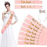 HOWAF Bride to Be Faja Banda y 6 Team Bride Bandas Despedida de Soltera Accesorios Amigas,...