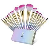 Amazon Brand - Eono Set de Brochas de Maquillaje 16Pcs Professional, Premium Pinceles de...