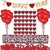 Kit de decoraciones del día de San Valentín 1000 piezas Pétalos de rosas rojas 10 piezas...