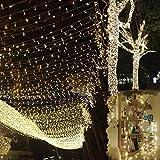 Uping Cadena de Luces, Guirnalda Luminosa 300 LED, 8 Modos de Luz con Conector, para Jardines,...
