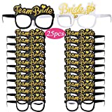 VINFUTUR Accesorios para Despedida de Soltera, 24pcs Gafas Team Bride+1pcs Bride To Be...