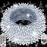 Hezbjiti Navidad Guirnalda Luces, 120m 1000 Led Luces de Cadena 8 Modos Luces de Hadas para...