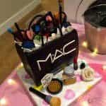 tarta para makeup party
