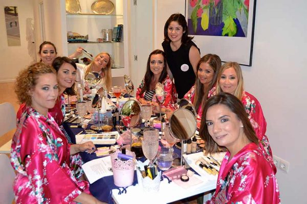 makeup party en malaga organizada por Pretty Day Eventos
