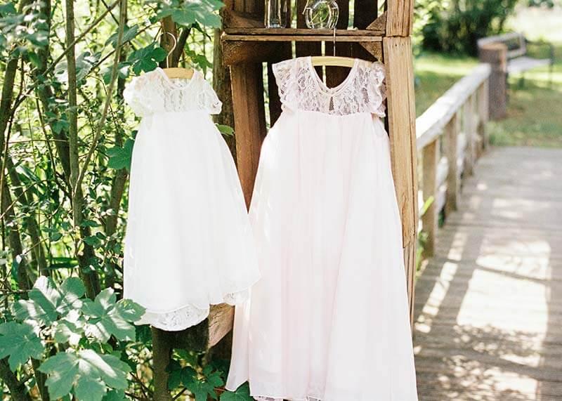 vestidos de dama de honor adulta y niña